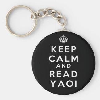 Lugnaa och lästa Yaoi för behålla Rund Nyckelring