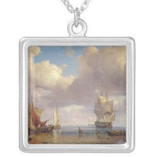 Lugnat hav, 1836 silverpläterat halsband