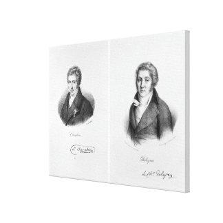 Luigi Cherubini och Nicolas Marie Dalayrac Canvastryck