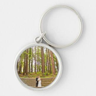 Luis & Jessicas bröllop Keychain Rund Silverfärgad Nyckelring