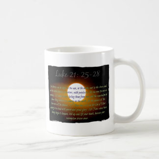 Luke 21:25 - 28 verses med månen kaffemugg