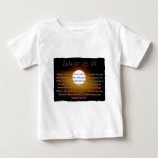 Luke 21:25 - 28 verses med månen t-shirt