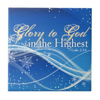 """Luke 2:14 """"härlighet till guden i den högsta"""" kakelplatta"""