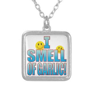 Lukt av vitlökliv B Silverpläterat Halsband