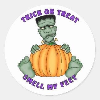 Lukta min fot Halloween Runt Klistermärke