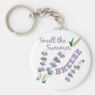 Lukta sommaren rund nyckelring