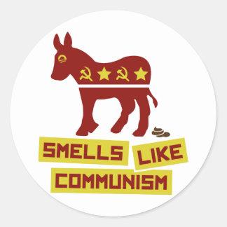 Lukter gillar kommunism runt klistermärke