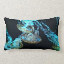 Lumbaren för blåttgeléfisken kudder