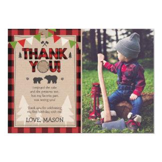 Lumberjack för kort för födelsedagLumberjacktack 12,7 X 17,8 Cm Inbjudningskort