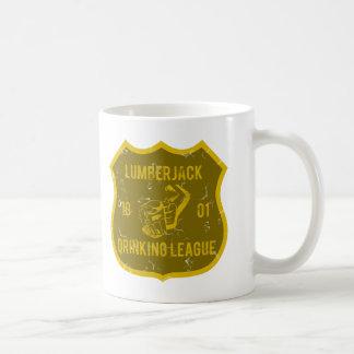 Lumberjack som dricker ligan kaffemugg
