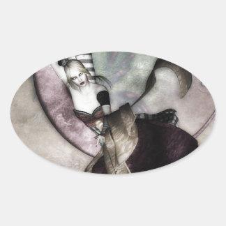 Luna Fae Ovalt Klistermärke