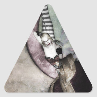 Luna Fae Triangelformat Klistermärke