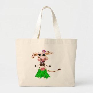 Luna hulaen-hula moo-cow. tote bag