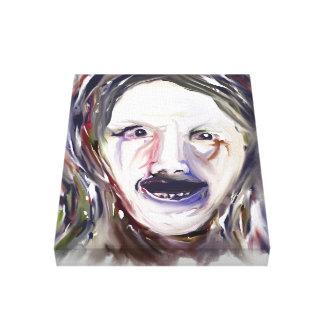 Lunacy - tokigt ansikte för Expressionism 11x14 på Canvastryck
