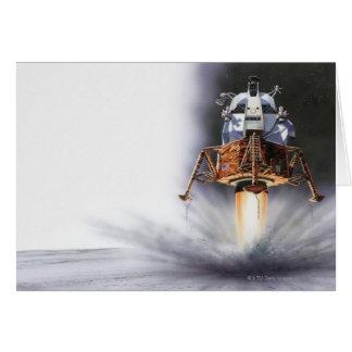 Lunar enhet för Apollo örn Hälsningskort