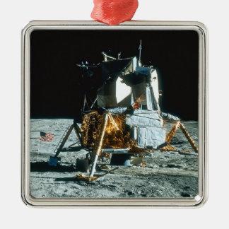 Lunar enhet på månen julgransprydnad metall