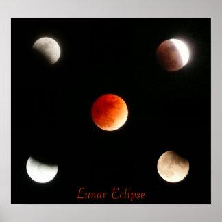 Lunar förmörkelse affischer
