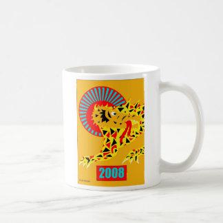Lunar gultdrake för nytt år kaffemugg