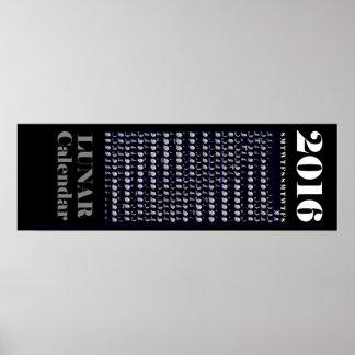 Lunar kalender 2016 poster