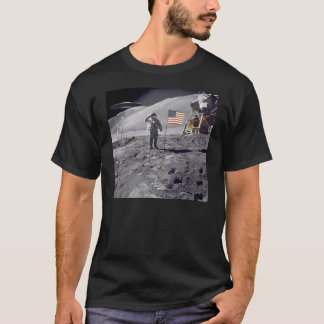 Lunar landningfrämling tee shirt