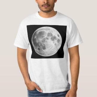 Lunar planetjordklot för fullmåne tee shirts