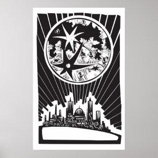 Lunar stad affisch