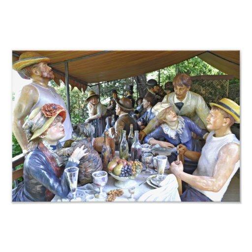 Luncheon av roddpartyet foto