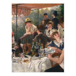 Luncheon av roddpartyvintagen - Renoir Vykort