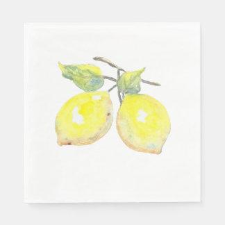 Lunchservetter med citrondesign pappersservett