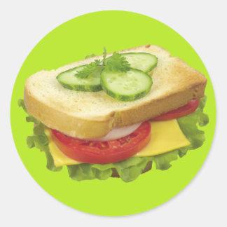 Lunchsmörgås Runt Klistermärke