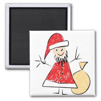 Lurar teckningen av den Santa magneten för att ge Magnet