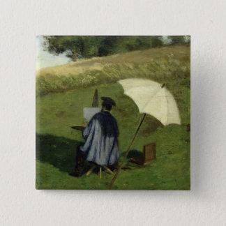 LustDubois målning i den öppna luften, c.1852 Standard Kanpp Fyrkantig 5.1 Cm
