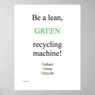 Luta den gröna affischen poster