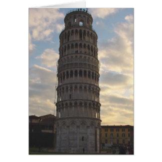 Lutande torn av Pisa Hälsningskort