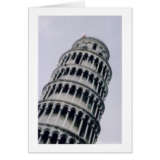 Lutande torn av Pisa, italien Hälsningskort