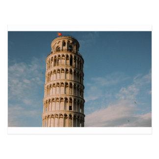 Lutande torn av Pisa - italien Vykort
