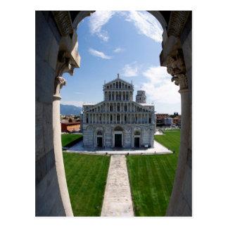Lutande torn Pisa, italien Vykort
