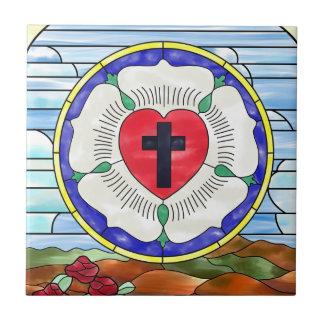 Luther förseglar målat glassfönstret kakelplatta