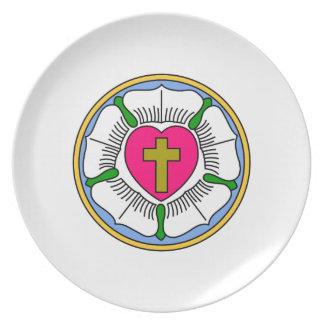 Lutheranen steg tallrik