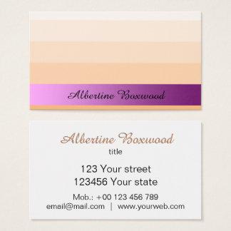 Lutningpersika med rosa baneranpassningsbartext visitkort