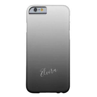 Lutningsilver med anpassningsbarnamn barely there iPhone 6 skal