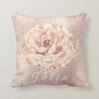 Lux för pärla för royal för namnroblomma rosa kudde