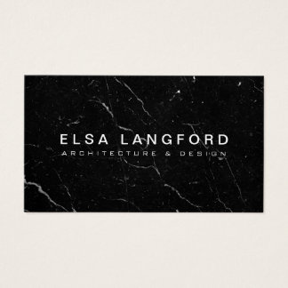 Luxe svart arkitektur för marmor II, Visitkort