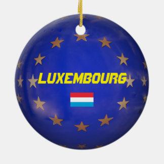 Luxembourg E.U. Julprydnad Rund Julgransprydnad I Keramik