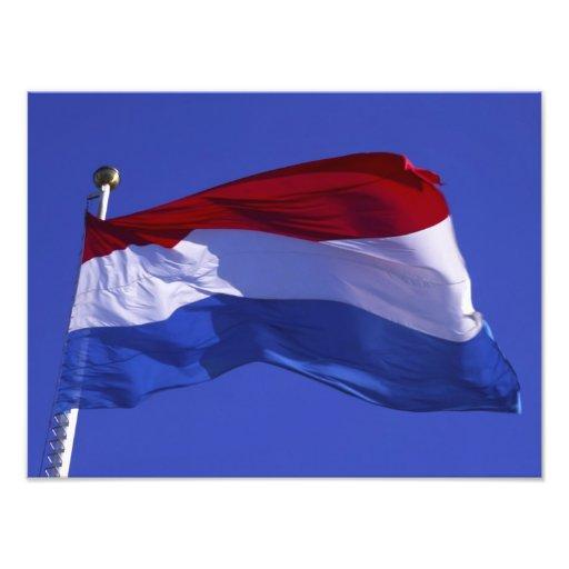 Luxembourg flagga RF) Fototryck