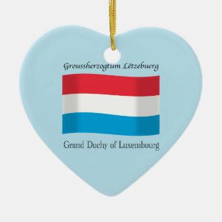 Luxembourg flaggaprydnad julgransprydnad keramik