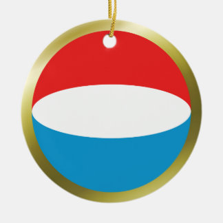 Luxembourg flaggaprydnad rund julgransprydnad i keramik
