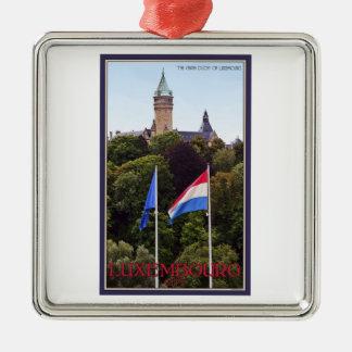 Luxembourg flaggor julgransprydnad metall