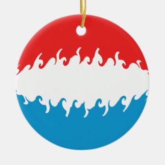 Luxembourg Gnarly flagga Julgransprydnad Keramik