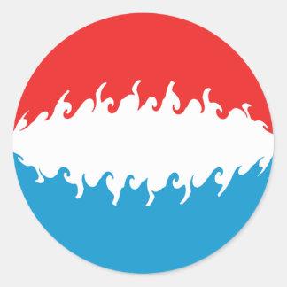 Luxembourg Gnarly flagga Runt Klistermärke
